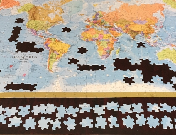 This is the puzzle we put together in Sydney and then gave to the Airbnb office staff there.