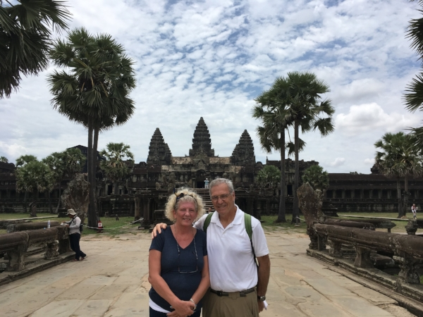 It was a beautiful morning to begin our exploration of Angkor Wat.