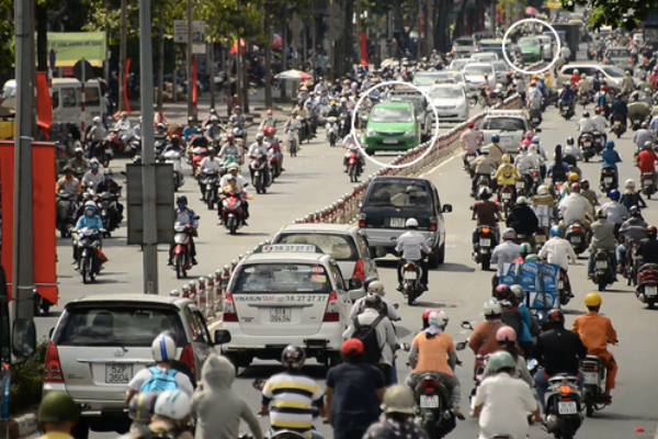 We watched my phone moving slowly across Saigon in one of thousands of green taxis. Would I ever see it again?