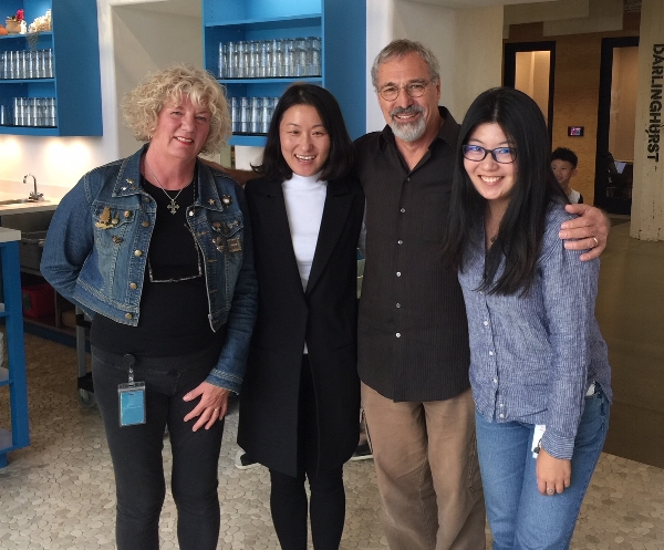 We first met Ellie (between Michael and me) at the San Francisco office during our senior internship at Airbnb