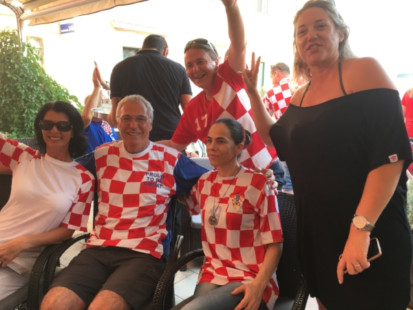 Michael was officially adopted by the ladies fan club where we enjoyed watching tiny Croatia make it to the finals of the World Cup against France.