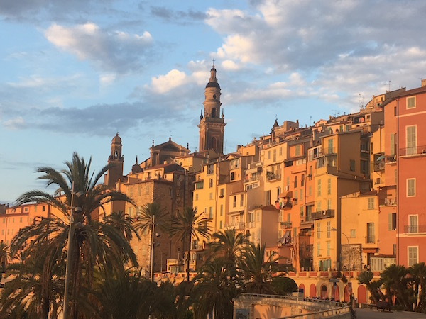 Menton caught in the early morning light as we walked into the old town.