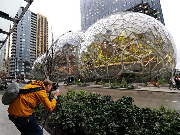 The Amazon Biospheres have landed! A job at Amazon is your ticket inside.