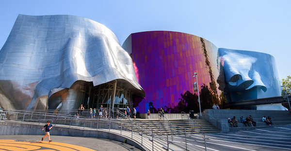 Architect Frank Gehry created Paul Allen's MoPop museum for maximum impact. You either love it or hate it, but you can't miss it.