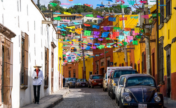 Just one of the colorful side streets of San Miguel Centro.
