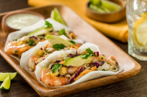 Jicama tacos must be one of the best things ever invented. Just thinly slice one and you've got shells!