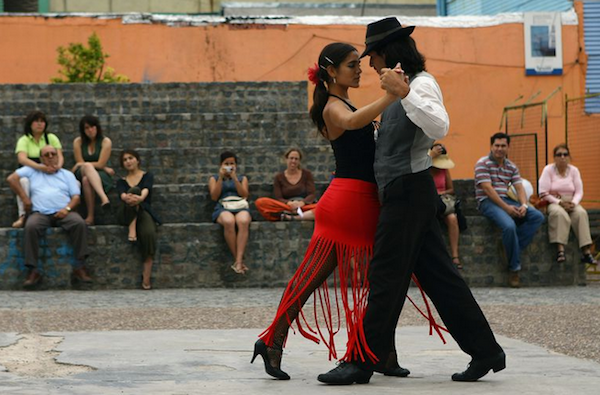 Impromptu tango dances are everywhere in Buenos Aires. Just listen for the music!