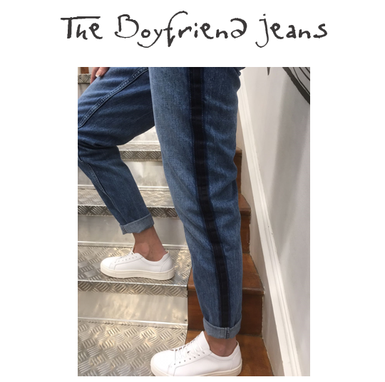 SELECTED FEMME BOYFRIEND JEANS | £60  A side stripe is a must for on-trend trousers this spring and these boyfriend jeans tick all of the boxes - comfort, style and sass! They look just as great with heels as they do with trainers. We highly recommend!
