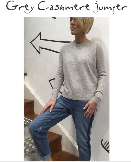 SELECTED FEMME CASHMERE JUMPER | £99  Ah grey... our all-time favourite neutral shade. This boxy cashmere jumper is the perfect one to wear with jeans - the hem line sits in the exact right place. Not to mention it feels absolutely beautiful to touch. Everyone needs a cashmere in their wardrobe - over the years, the cost per wear works out as pennies rather than pounds!