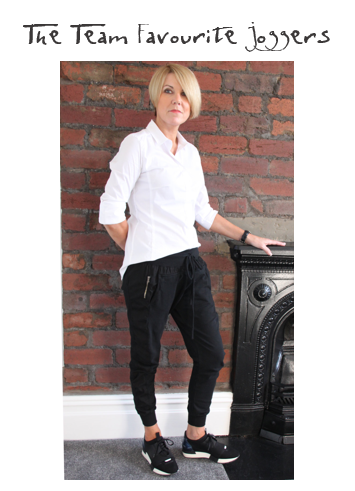 SUZY D JOGGERS | £45   These are on constant rotation in my wardrobe! Available in black, grey and navy, a pair of these in your life is an absolute must. Think casual weekend go-to trousers or wear them for travelling to your next destination.