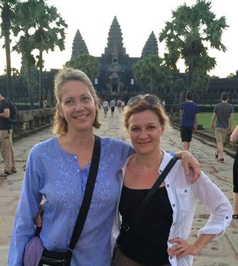 Tess & Gaby in Cambodia