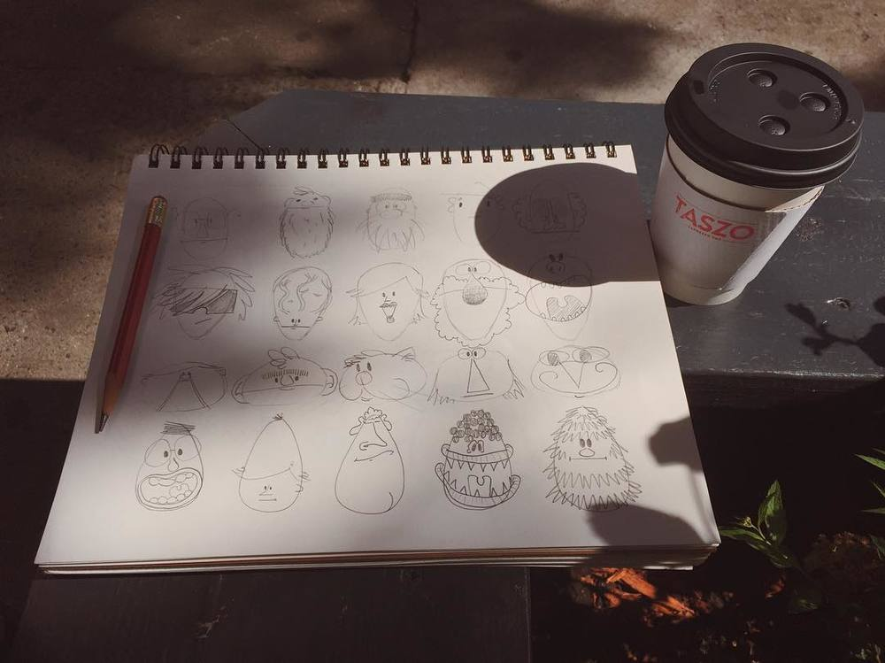 It's a gorgeous afternoon. Perfect time for some character drills. #doodle  http://ift.tt/29s139J