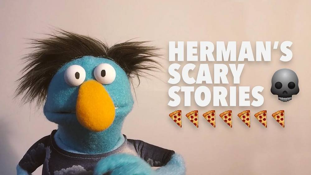 Go to @bizzarostudio's Facebook to see Hermans first video!! Link in Bio!! #puppet #puppets #bizzarostudio #scarystories #scary #😱  http://ift.tt/1Yepit3