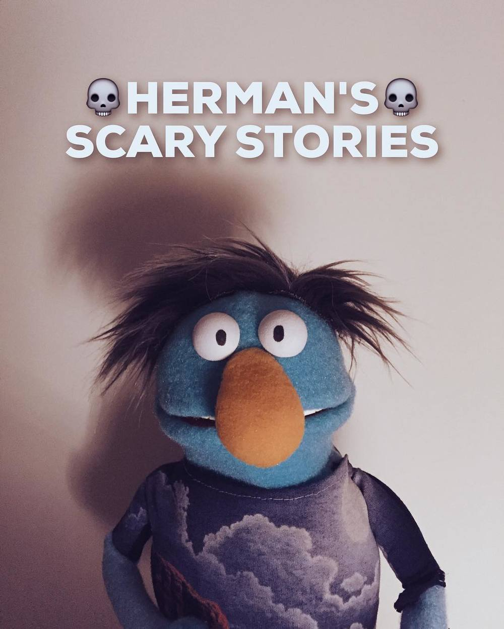 He looks like a Herman. A Herman who would tell some scary stories.#puppet  http://ift.tt/1tegB6q
