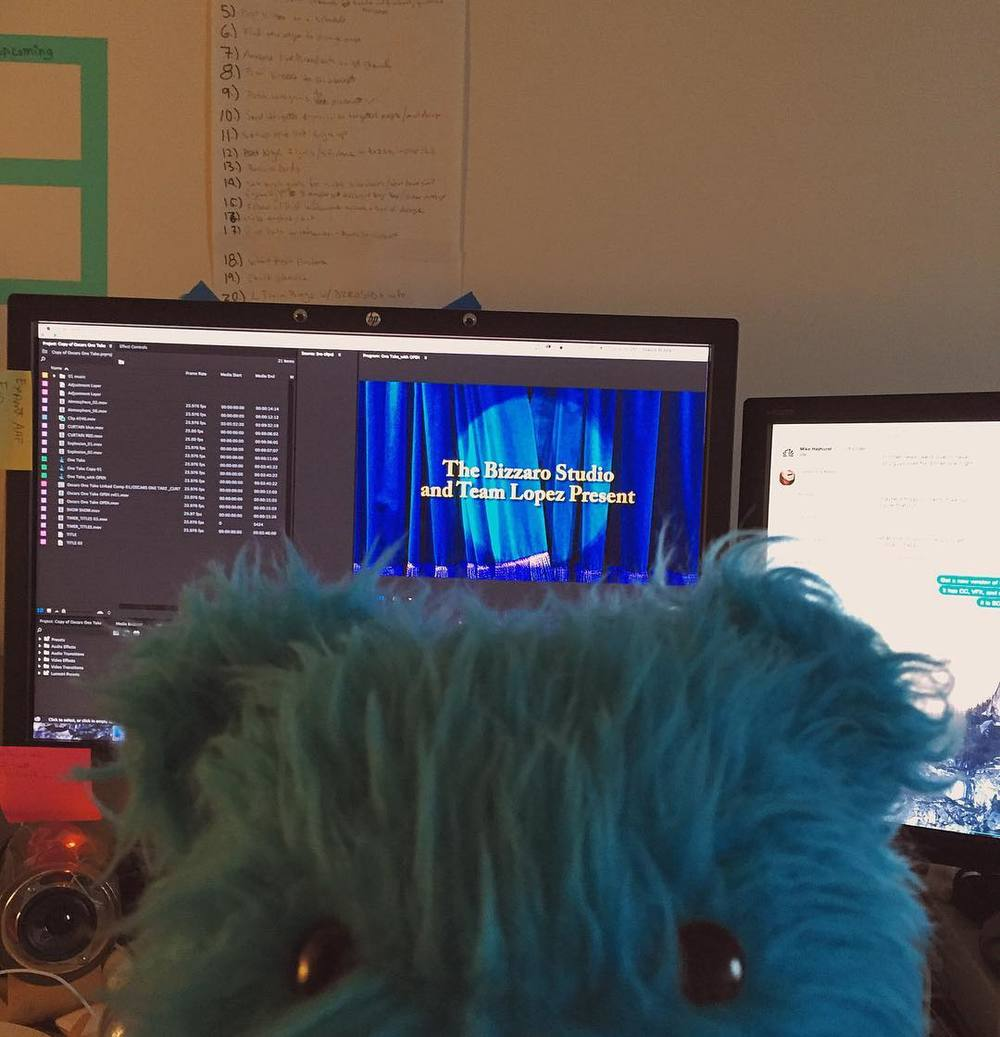 New video in the works! Releasing soon! In collaboration with @eveningsquire and @teamlopeznyc! Bayr is stoked! #puppet http://ift.tt/1KnySp7