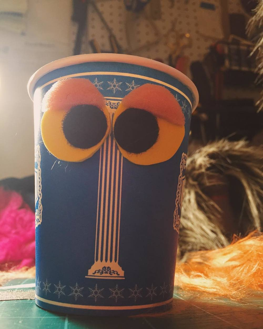 What's up cup. #puppet  http://ift.tt/1QIQnlU