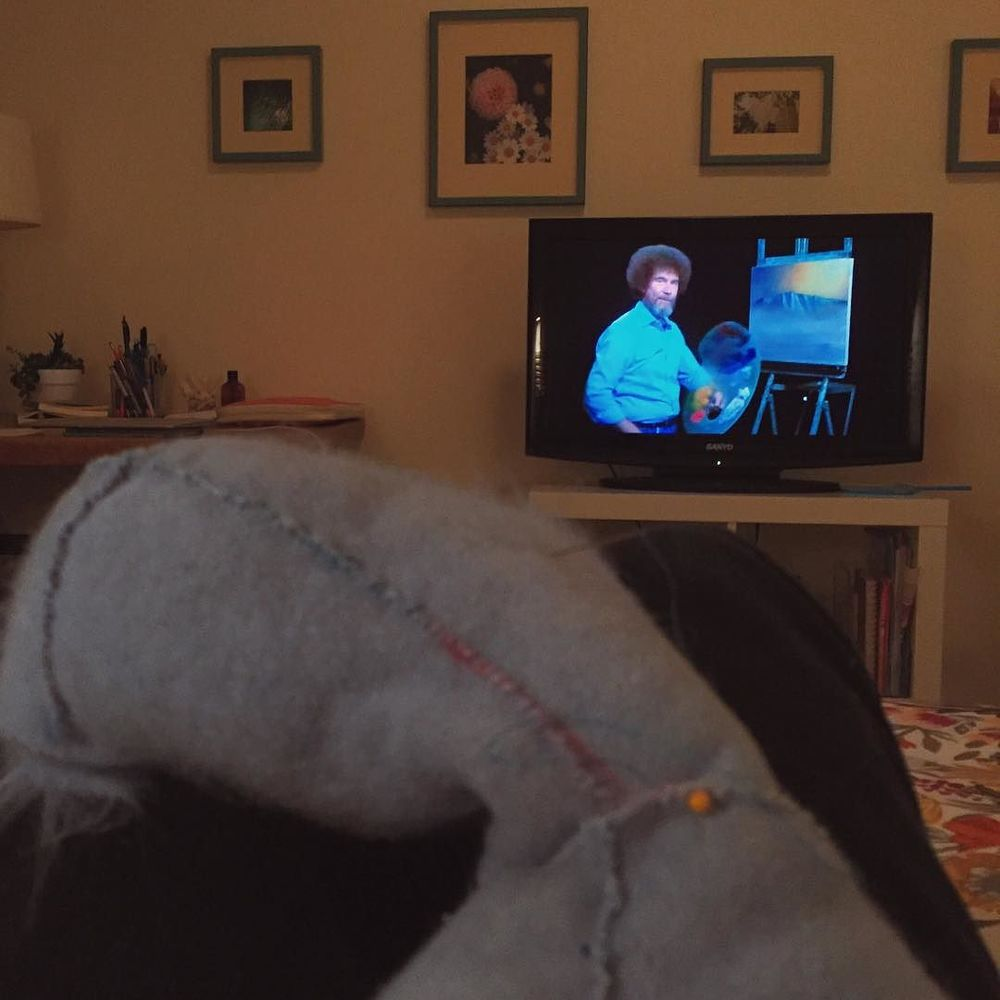 Bob Ross and an evening #puppet stitch. So much relax is happening.  http://ift.tt/1U3BuIz