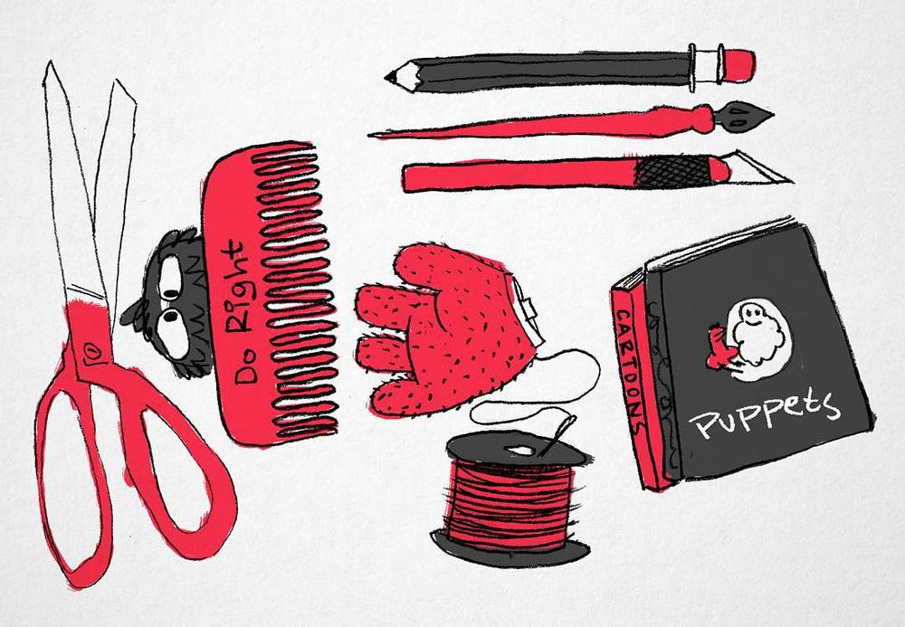 Look at all this stuff. #puppet #drawing http://ift.tt/1Zl9Fii