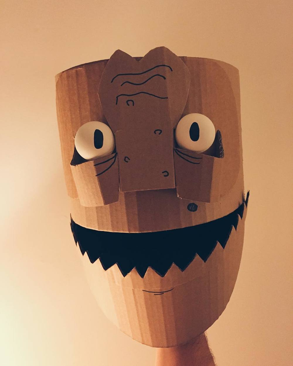 Giant cardboard rod #puppet for the Halloween parade in the works! http://ift.tt/1RAhg7R