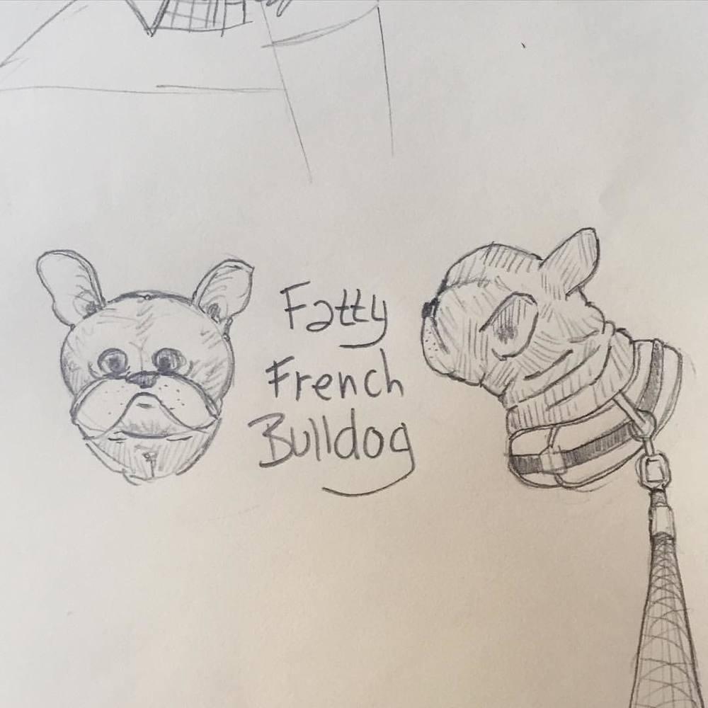 Fatty French Bulldog doodle morning. #puppup