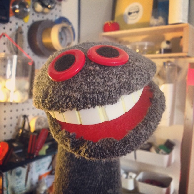 No extra projects happening. So I made a sock #puppet.
