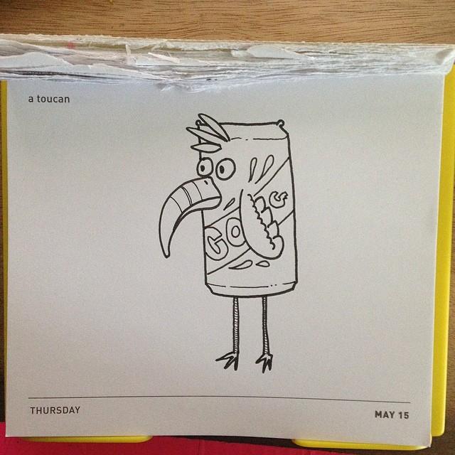 Today's Daily Draw. A Toucan. #dailydraw #wakkawakka