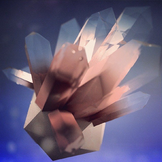 Crystal power. #c4d