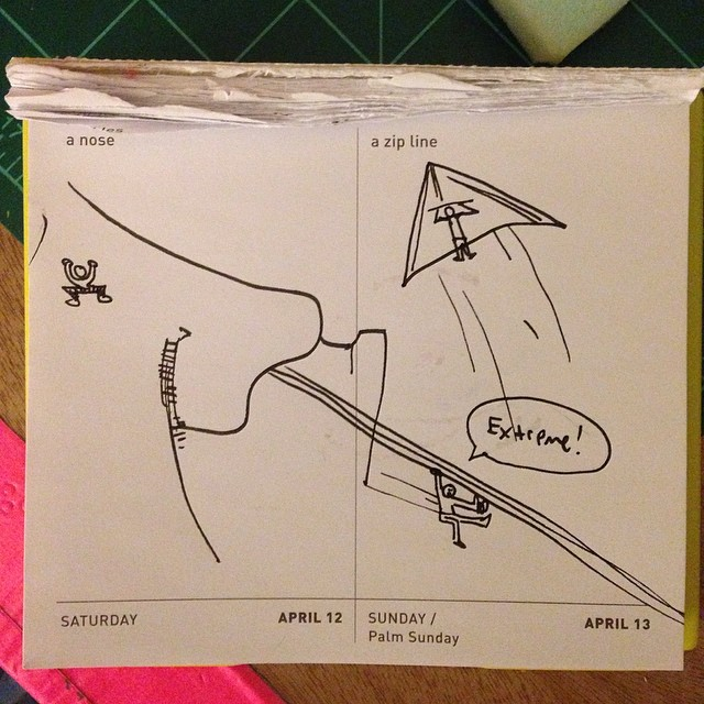 SPEXIAL EDITION DAILY DRAW!! A Nose and A Zip Line. Colab with @coreyrovey