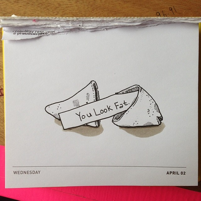 Today's Daily Draw. A Fortune Cookie.