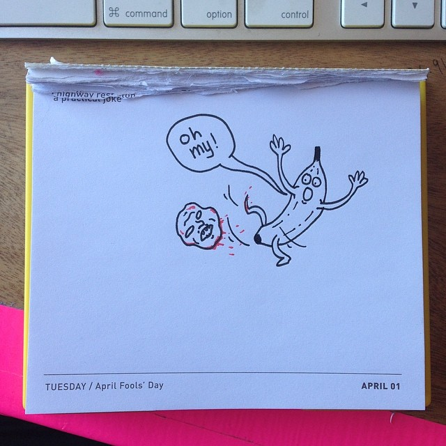 Today's Daily Draw. A Practical Joke.