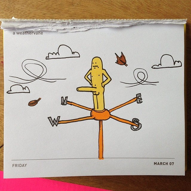 Today's daily draw. Weathervane.