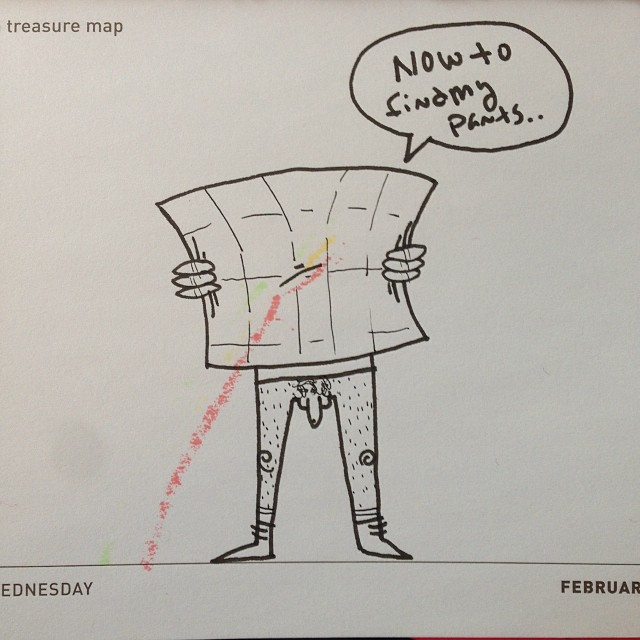 Today's daily draw. Treasure map.