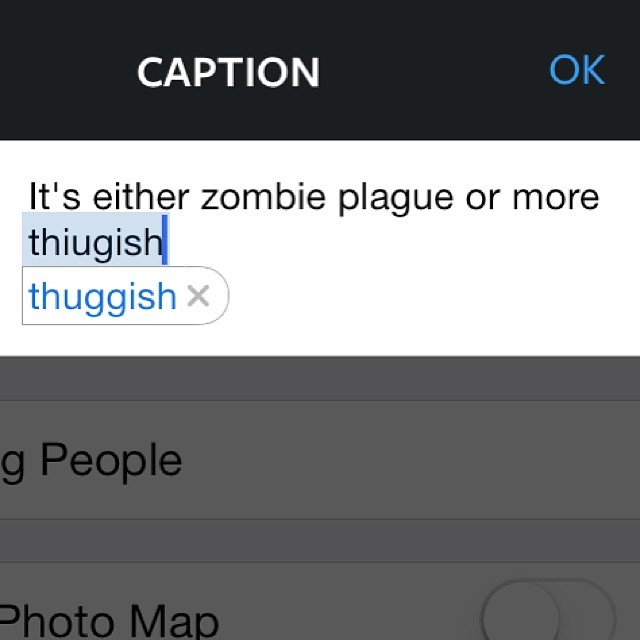 Also, my phone autocorrected 'thuggish' for me.