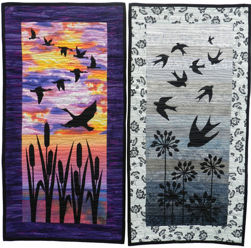 Gail Lawther Twilight Silhouettes Motifs Workshop at Sidmouth Fabrics Devon