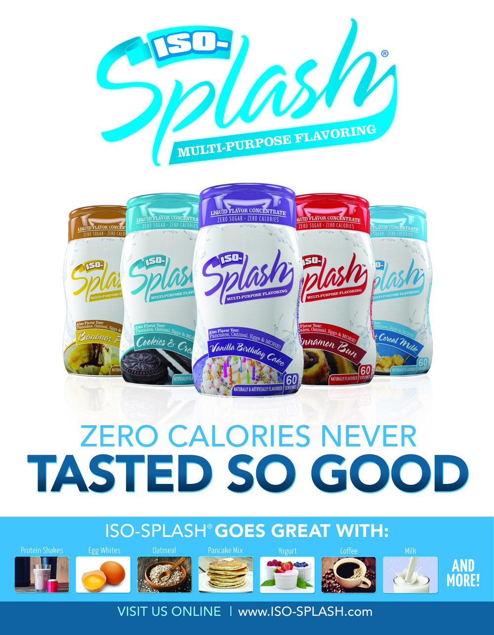 Iso Splash bottle images on website advert