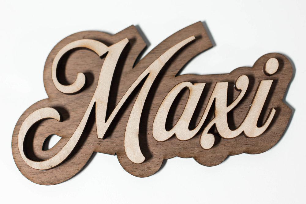 Laser Cut wood signage