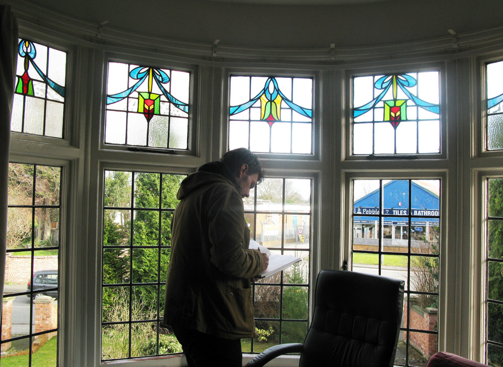 Survey of bay window with original leaded lights.jpg