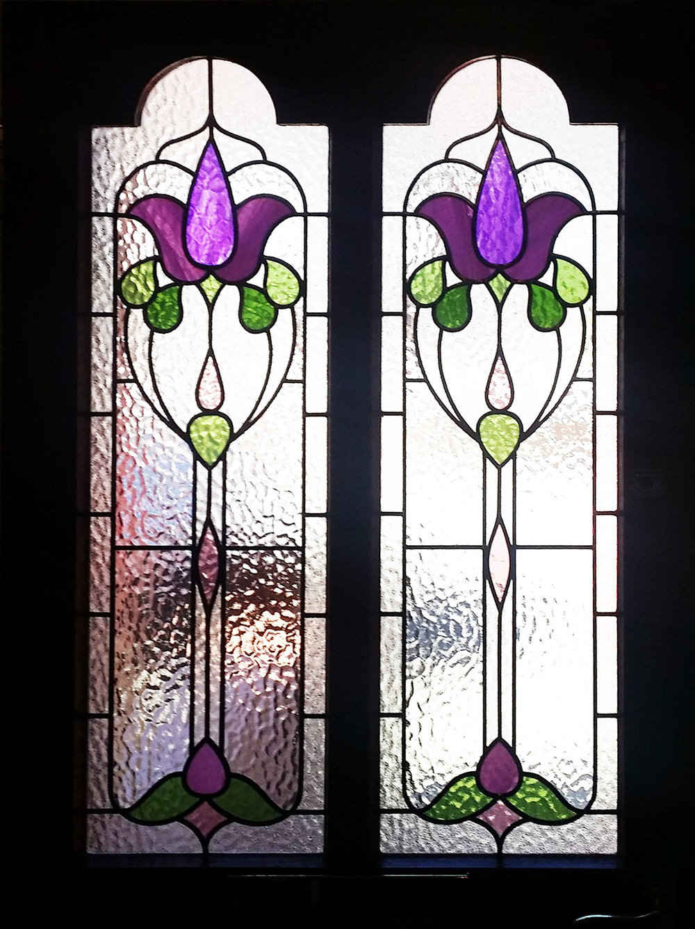 Victorian Floral Front Door Design
