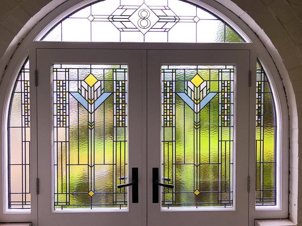 Frank Lloyd Wright Inspired Entranceway