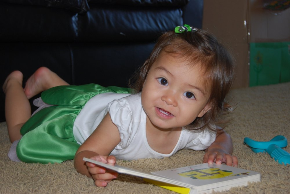 Reading every day with your child from a young age promotes language and hopefully creates future bookworms.