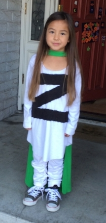 Little Lion Bookworm dressed up as Zita the Spacegirl from the graphic novel trilogy by Ben Hatke