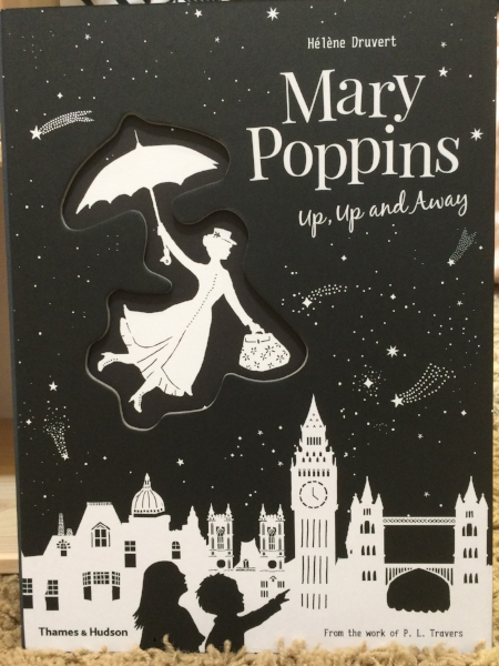 The cover of Mary Poppins: Up, Up and Away by Helene Druvert based on the work of P.L. Travers.  Thumbnail above of Little Lion with Mary Poppins and Burt at Disneyland.  Yes, she is dressed as a lion, hence her nickname.  Posted with permission.