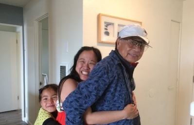 This is what a three generation 'Backwards' hug looks like. Posted with permission.