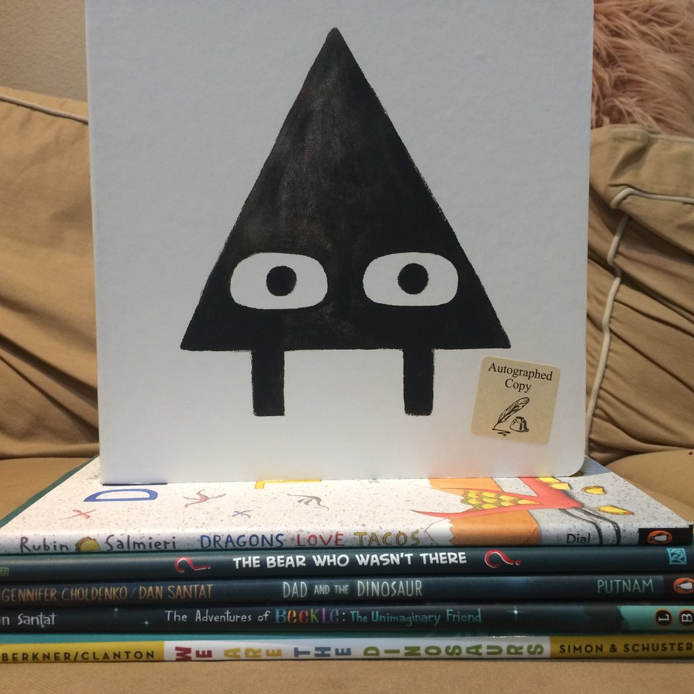 L.A. Times Festival of Books picture book haul.  All pictures posted with permission of the Bookworm Girls and Mr. Bookworm.  No express permission from the authors/illustrators but they DID agree to photos with us.  :D