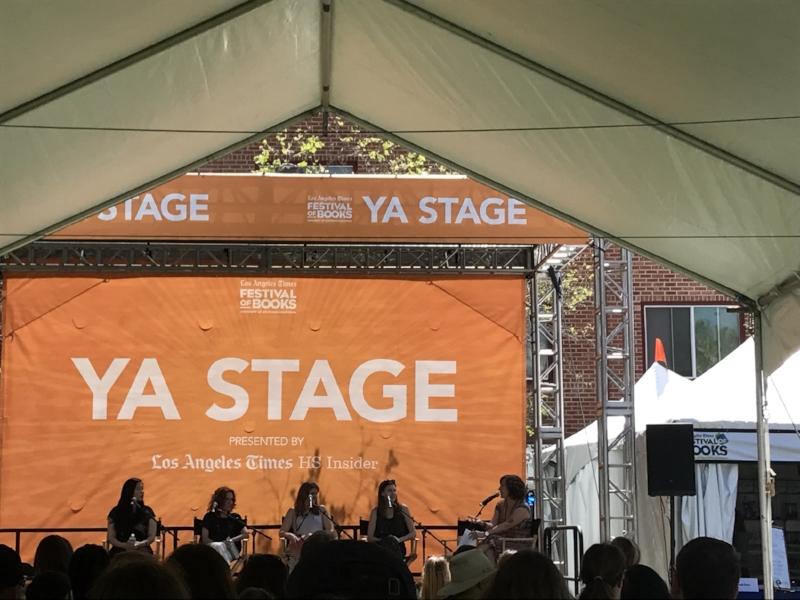 YA Panel, L to R: Emily X.R. Pan, Gayle Forman, Marie Marquardt, Farrah Penn, E. Katherine Kottaras
