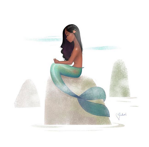 The #Mermay illustration  above  by Vashti Harrison is one of my favorites of 2018. Posted with permission.