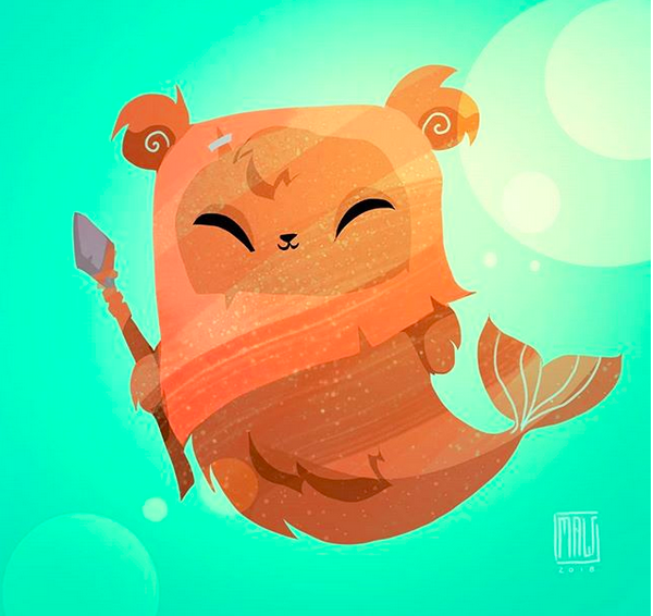 Taylor Maw's  Ewok mermaid . Posted with permission.