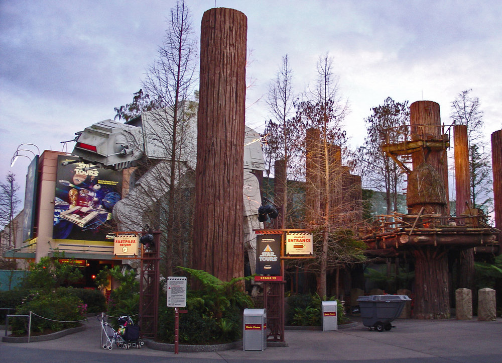 Star Tours at Disney's Hollywood Studios. 13x18 slice of a photo by   Lou Oms.   Utilized under a   CC BY 2.0   license.