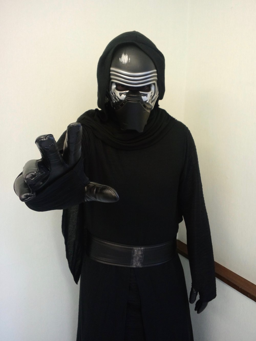 Tokyo cosplayer dressed as Kylo Ren for Halloween 2016.