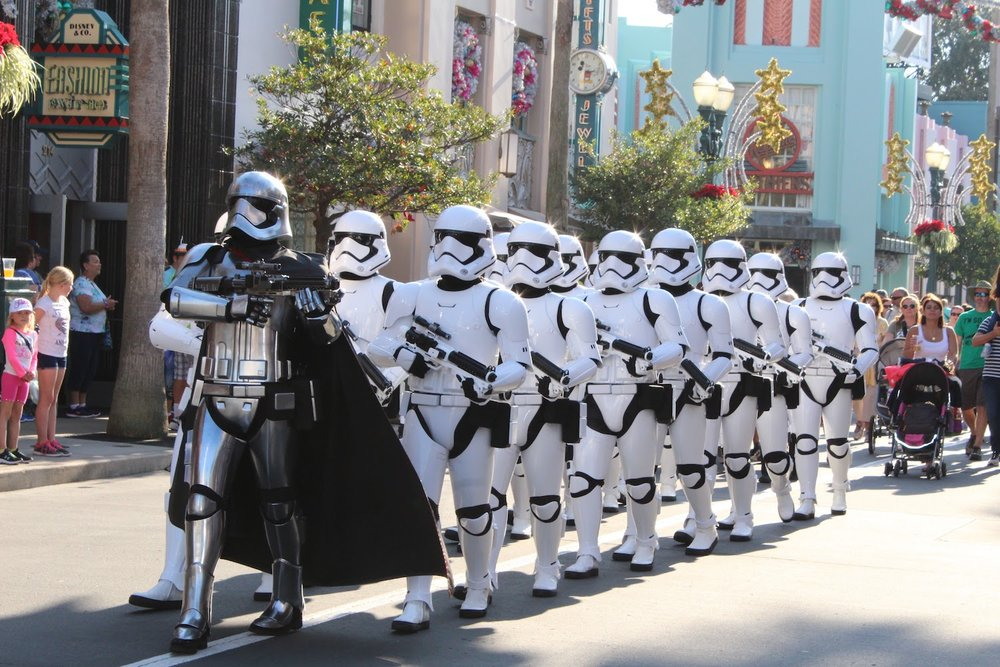 The March of the First Order at Disney's Hollywood Studios in Florida. Photo by Marcus Meyer.